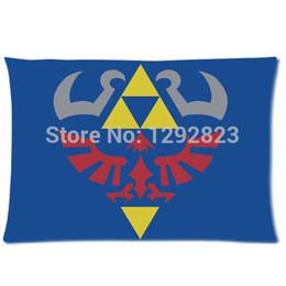 Wholesale Custom Zelda - Wholesale- custom pillow case decorate New Arrival The Legend of Zelda Zippered Pillow Cases 20x30 (one side) PC-706