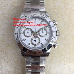 Wholesale Working Chronograph - 5 Style Best Edition Watch NOOB Factory 40mm 116520 116506 116509 Chronograph Working Swiss ETA 7750 Movement Automatic Mens Watch Watches