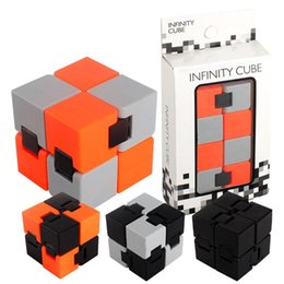 Wholesale Magical Cube - Creative Toy Fidget Infinity Cube Infinite Square Finger Decompression Antistress Resistance Toy hand spinner Magical Puzzle Wholesale