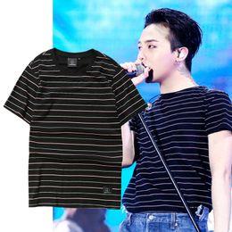 Wholesale Kpop Gd - Peaceminusone KPOP Bigbang GD Design T Shirt Hip Hop New Fashion Street Style High Quality Men Women Peaceminusone T-shirts