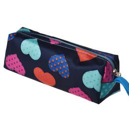 Wholesale Heart Shape Clutches - Wholesale- Xiniu cosmetic bag women Make Up Box Heart Shape Printing Women Clutch Bag Cosmetic Pouch maleta de maquiagem organizer#0