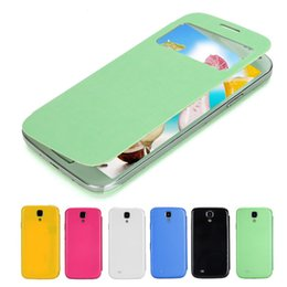 Wholesale Galaxy S4 Battery Cases - Wholesale 2017 Slim Smart Cell Phone Funda Flip Leather Case Case Cover With Wake Battery Housing Cover Bags For Sumsung Galaxy S4