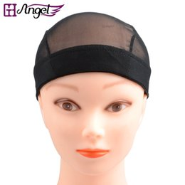 Wholesale Snood Net For Hair - GH Angel 1pc Black Wig Caps for Making Wigs Only Stretch Lace Weaving Cap Breathable Wig Cap Elastic Lace Hair Net Snood Mesh