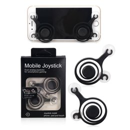 Wholesale Ipad Joystick Games - Smartphone Mini Joysticks mobile phone handler Touch Screen smart Dual Joystick For iPhone LG HTC Sumsung S8 iPad iPod Arcade Games Rocker