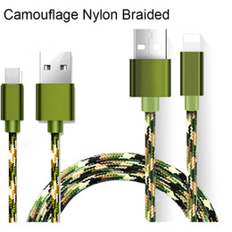 Wholesale G5 Smartphone - USB Cable Camouflage Nylon Braided speed Micro USB Type-C Date Sync Charge Cable for samsung S7 edge LG g5 smartphone DHL Free CAB177