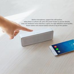 Telefone ao ar livre xiaomi on-line-Segunda Geração Xiaomi Estéreo Portátil Mini HiFi Bluetooth 4.0 Caixa Orador Alto-falantes Subwoofer Ao Ar Livre Para Telefones Celulares Tablets