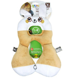 Wholesale Travel Child Safety Seat - Wholesale- Benbat baby safety car pillow headrest children travel seat cushion neck care pillow cute animal 0-4years