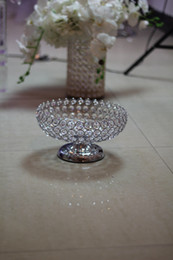 Wholesale Wholesale Crystal Tall Candle Holders - glass bead Crystal Table Candlesticks Wedding Centerpiece Tall Crystal Candle Holder