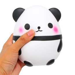 Juguete panda grande online-Squeeze Panda Egg Toy Jumbo Slow Rising Kawaii Super Big Panda Ball Suave y linda Almohada de mano Sweet Cream Scented Stress Relief Toy