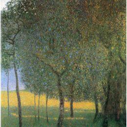 Pinturas a óleo paisagens frutas on-line-Gustav Klimt Paisagens Pinturas reprodução da lona de óleo Árvores De Fruta de Alta qualidade Handmade
