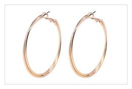 Wholesale Diamante Heart Earrings - Earrings Brand New Hot Women Crystal Diamante Rhinestone Silver Plated Hoop Round Earring Jewelry Free Shipping