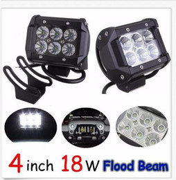 Wholesale Led Motorcycle Head Lamp - 18W 6LED*(3W) CREE LED Working Light Bar Offroad SUV ATV Flood Beam 1600lm IP67 JEEP Motorcycle Head Lamps