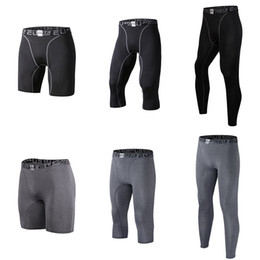 Wholesale Leggings Men - Men's Compression Tight Pants Base Layer Breathable Running Leggings