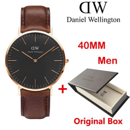 Wholesale ms top - Top luxury brand women men quartz watches fashion leather nylon style 40 36mm rose gold for MR MS watch relojes lady with box