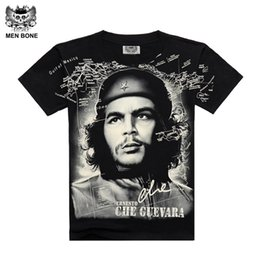Wholesale Che Guevara Shirts - Wholesale- [Men bone] Summer Fashion Che Guevara Men's Shirt 3D printing T shirt Argentina hero men T-shirt cotton Tees free shipping