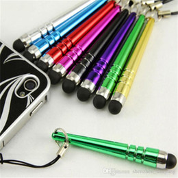 Wholesale Dust Proof Screen Touch - Free Shipping 1000pcs Newest Mini Stylus Pen Baseball touch pen with Dust-proof function Portable Design