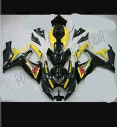 Wholesale K6 Kit - 3 gifts New ABS Fairing Kits For SUZUKI GSXR 600 750 K6 06 07 GSXR-600 GSXR750 GSXR600 GSX R600 R750 06 07 2006 2007 Cool blackYellow