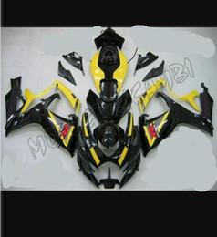 Wholesale Suzuki Gsxr Fairing K6 - 3 gifts New ABS Fairing Kits For SUZUKI GSXR 600 750 K6 06 07 GSXR-600 GSXR750 GSXR600 GSX R600 R750 06 07 2006 2007 Cool blackYellow