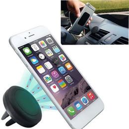iphone 6s celular Rabatt Universal Car Holder magnetischer Luft-Entlüftungsöffnungs-Berg-Dockhandyhalter für iPhone 6s Samsung HTC celular Carro heißer Verkauf
