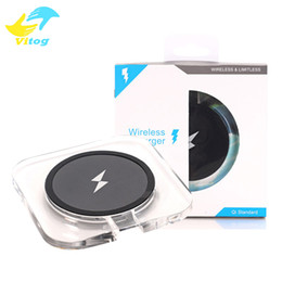 Wholesale Wholesale Square Chargers - square qi wireless charger pad with cool blue light for samsung note5 s6 s7 edge iphone 8 8 plus X htc lg nokia