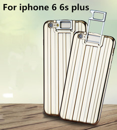 Valise valise valise à vendre-Sac de luxe Trolley Mallette Housse pour iphone 6 6s plus Housse de protection protectrice Sacoche bagage Trolley Support Holder Soft Case