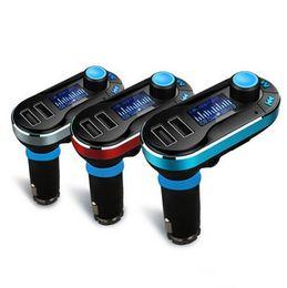 Dual usb auto ladegerät dhl online-2016 neue Bluetooth Auto FM Transmitter 2.1A Dual USB Auto Ladegerät BT66 MP3 Player Car Kit für Handy Freies DHL