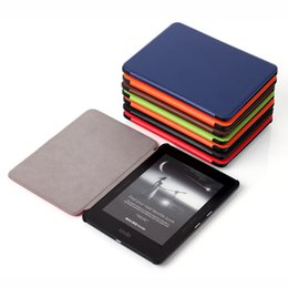 Wholesale Kindle Bundle - Case for Kindle Voyage Kindle 1499 6 inch Anti-skid PU Leather with Magnet Auto Wake Up Sleep Fountion