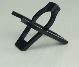 Prateleira dobrável preta única do suporte da cremalheira do suporte da tubulação 50 pçs / lote de