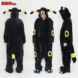 Canada Pyjama adulte unisexe Kigurumi Cosplay Costume Vêtements de nuit Flanelle Animal Onesie elfe noir S M L XL Offre