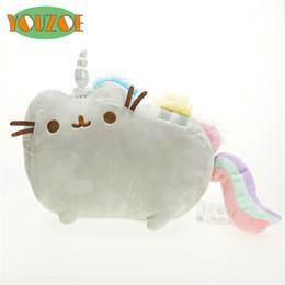 Wholesale Kawaii Cushion - YOUZOE Cartoon Soft Pusheen Cat Cushion Plush Toys As Gift For Children Kawaii Animal Cat Rainbow Cute Toys Free Shipping
