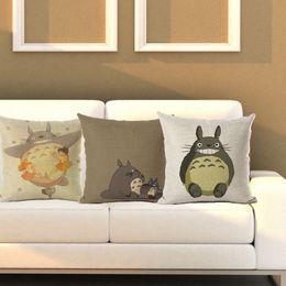 Wholesale Totoro Cushion Cover - Pillow Case Totoro Pillowcase Japanese Pillow Case Cute Cartoon Animal Totoro Throw Pillow Case Cushion Cover Free Shipping