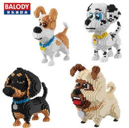 Wholesale Mini Model Building - 6 Styles Balody cartoon Dog Series blocks mini diamond Bulldog model building bricks Wolf Dog educational assembly Model Kits