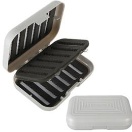 Wholesale Fly Box Case - Double Side Fly Fishing Lure Bait Hook Storage Case Box Tackle Waterproof Slot E00186 SMAR
