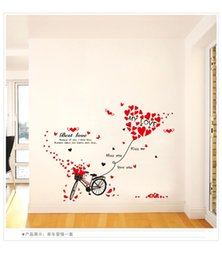 Wholesale Country Landscape Paintings - XL7121 bicycle love marriage room bedroom living room wall stickers stickers den PVC removable waterproof paint wholesale