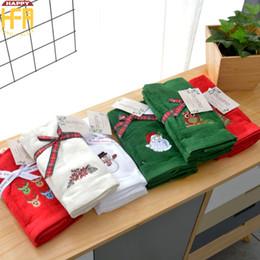 Wholesale Wholesale Cartoons Face Towel - 30*45Cm Pure Cotton Christmas Gift Towel 3Pcs-Set High Quality Christmas Hand Towel Cute Cartoon Christmas Patterns Cotton Towels