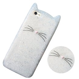 Wholesale Cute Cat Ear Iphone Case - Free Shipping New Arrival High Quality Hot Cute Cat Ear Design Cartoon Silicone Soft Back Case Skin Cover For iPhone 7