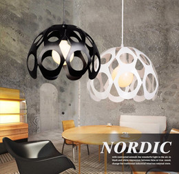 Wholesale Modern House Decorating - Fashion Indoor decorative modern pendant lamp E27 Europe rounded Iron lamp dining room bar counter coffee house decorate commercial lighting
