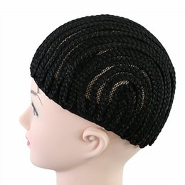 Wholesale Materials Net - Very easy braided wig cap TP material elastic net elastic band Lace wig Adjustable band Caps for making wigs Cornrow braided wig cap