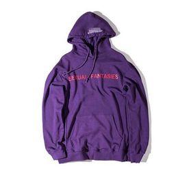 Wholesale Men Fantasies - VETEMENTS Oversize Hoodies women men Sexual Fantasies AUTOMNE-HIVER Kanye Skateboard Catwalk Supremo Sweatshirts Unisex Cloth