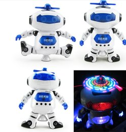Wholesale Smart Toys Wholesale - 2017 Intelligent 360 Rotating Space Dancing Robot Electronic Infrared Musical Walking Lighten Multi-function Smart Toys for Kid Robot toys