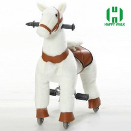 Wholesale Toy Wooden Wheel - Mechanical walking Outdoor playground toy horse on wheels HI CE, Rude horse for Kid gifts  birthday gifts
