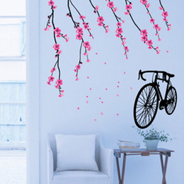 Wholesale Cartoon Toilet Paper - Bicycle Wall Stickers Children Removable Wallpaper Children Kid Room Cute Hot Sale Decor Large Paper Adhesive Decoration Home
