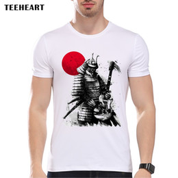 Wholesale Novelty Guitars - Wholesale- TEEHEART 2017 Hipster Samurai Pay Guitar T-Shirt For Men Boy Novelty Men's Short Sleeve Tops Tees PA837