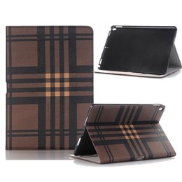Wholesale Plastic Plaid Bags - For 2017 New Ipad Pro 10.5 Protective Case Plaid Pattern PU leather PC Inner Pad Cover Case For Ipad 5 6 Mini 1 2 3 4 Pro 12.9 9.7 Opp Bag