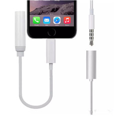 Wholesale Earphone Cable Connector - High quality Earphone Headphone Jack Adapter Converter Cable Lighting to 3.5mm Audio Aux Connector Adapter Cord for iPhone7 iPhone 7 Plus