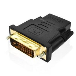 Wholesale Hdtv Convert - Gold Plated DVI 24+1 HDMI Convert Male to Female Adapter Converter Cable Cabo for HDTV LCD free shipping