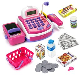 Wholesale Wholesale Light Up Items - Cash Register Playset Light up Cash Register with Sounds - Roleplay Theme - Assorted Light up Cash Register Items#123-847