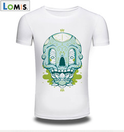 Wholesale Scoop Neck Tshirt - 2017 New LOMIS Brand Men T Shirt 3D Animal Skull Ghost Printed T-shirt Men Long Sleeve O-Neck Casual Tshirt Breathable Warm Tops Tees