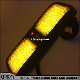 Wholesale Super Bright Led Car Panel - Hight Quality Flash Patterns Super Bright 86 LED Car Truck Visor Strobe Flash Light Panel, Warning Lighting Amber Yellow Color
