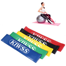 Wholesale Elastic Resistance - Multi-color Fitness Bands KIWSS Elastic Rubber Yoga Body Building Stretch Resistance Band Loop Rope Fitness Equipment Power Band +B